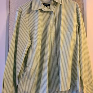 Lands End No Iron Collared Button Up